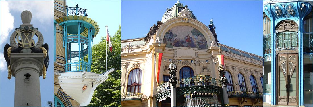 Galerie Art nouveau : Nancy, Vienne, Prague, Anvers...
