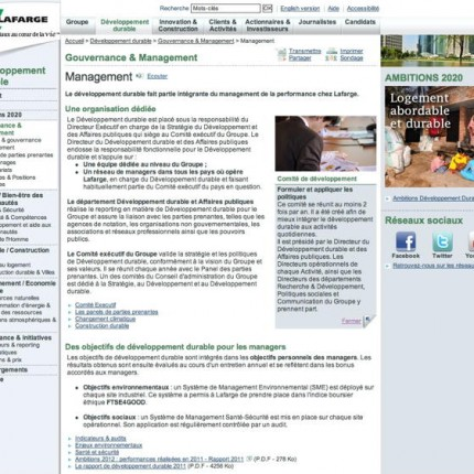 Larfarge : Gouvernance