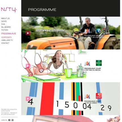 NSTY Productions : Programme