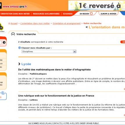 Onisep site professionnel : Résultat de recherche