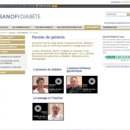 Sanofi Diabète : Paroles de patients