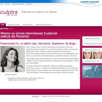 Sculptra.pl : version initiale des sites Sculptra