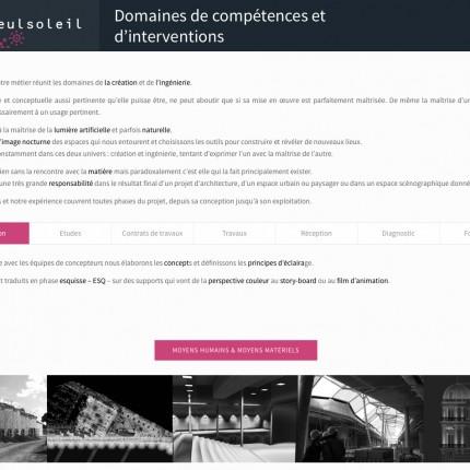 Seulsoleil : Domaines de compétence