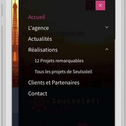 Mobile : menu