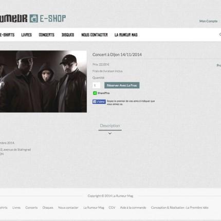 E-shop La Rumeur : Concerts
