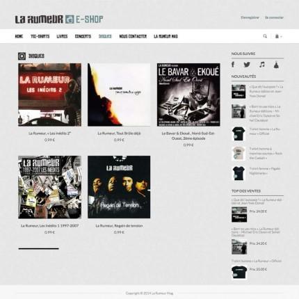 E-shop La Rumeur : Dsques