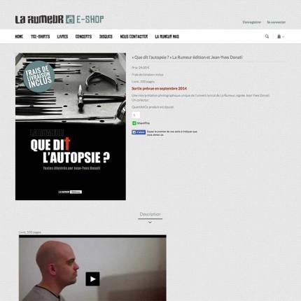 E-shop La Rumeur : Livre (détail)