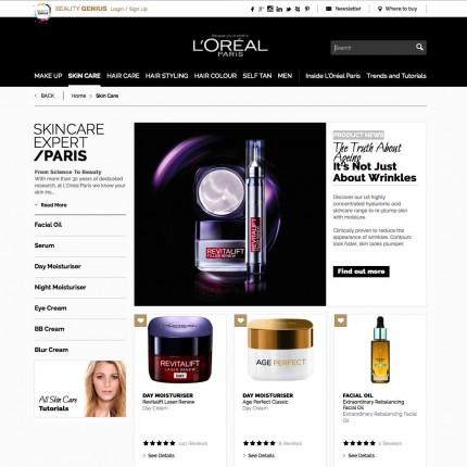 Page Catégorie L'Oréal Paris UK