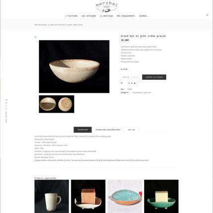 barzhel.com page produit
